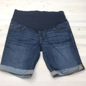 Old Navy denim jean maternity shorts sz 8
